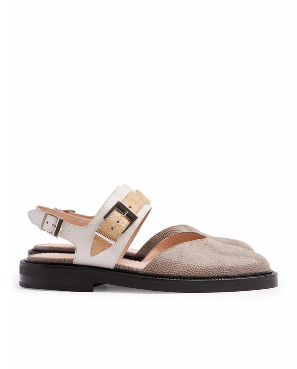 TAUPE V TOE SANDALS