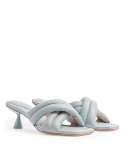 VERA BLUE HEELED SANDALS