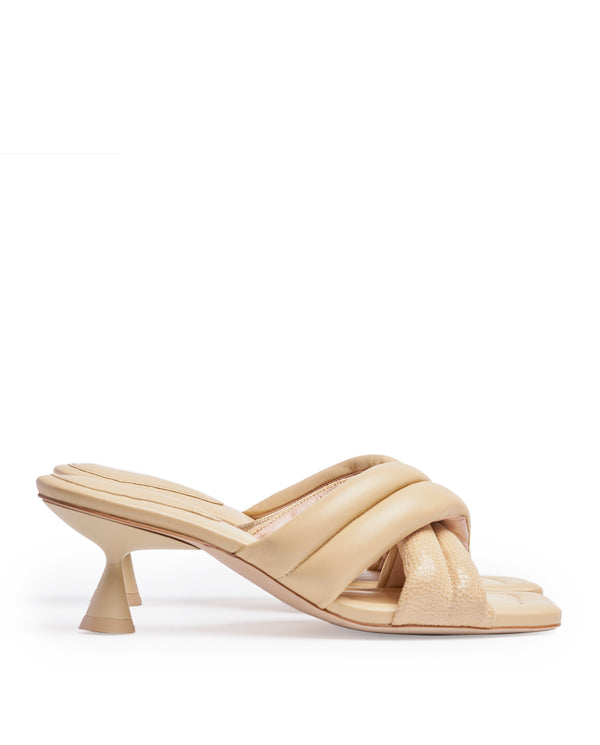 VERA BLONDE HEELED SANDALS