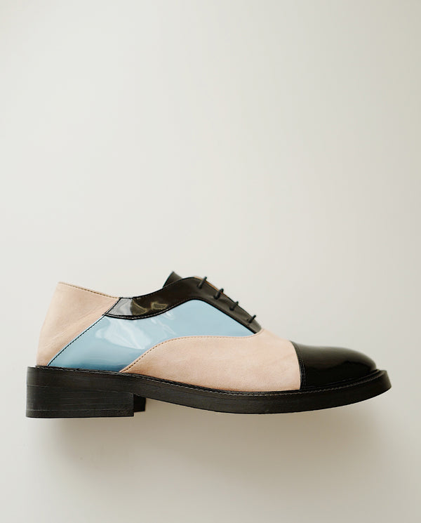 Dusty Pink & Sky Blue Oxfords - I N C H 2
