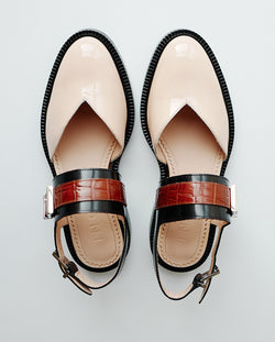 Vinyl Closed Toe Sandals - I N C H 2