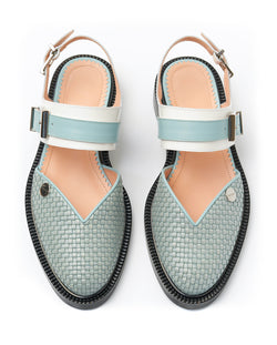 Baby blue Closed Toe Sandals - I N C H 2