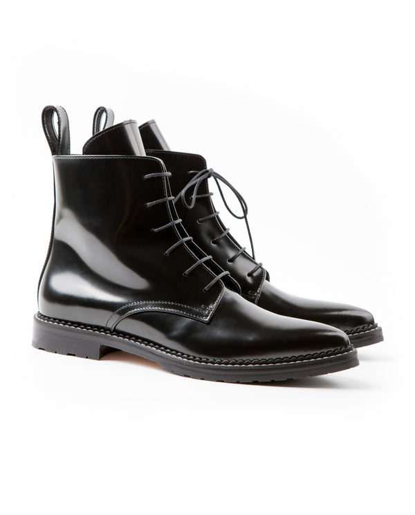 Dapper Pointed Toe Lace-up Boots - I N C H 2