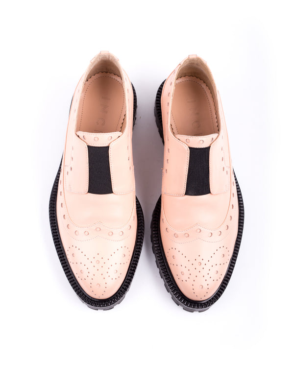 Dusty Pink Rome Brogues - I N C H 2