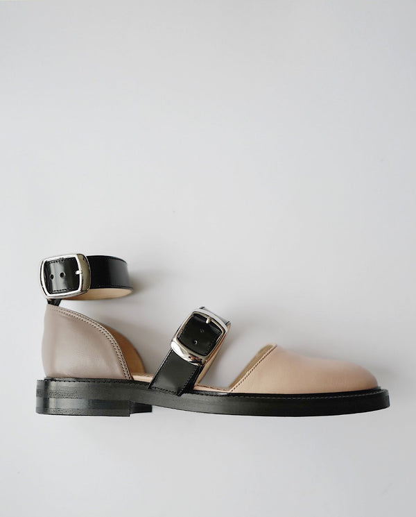 Closed Toe Nude Sandals - I N C H 2