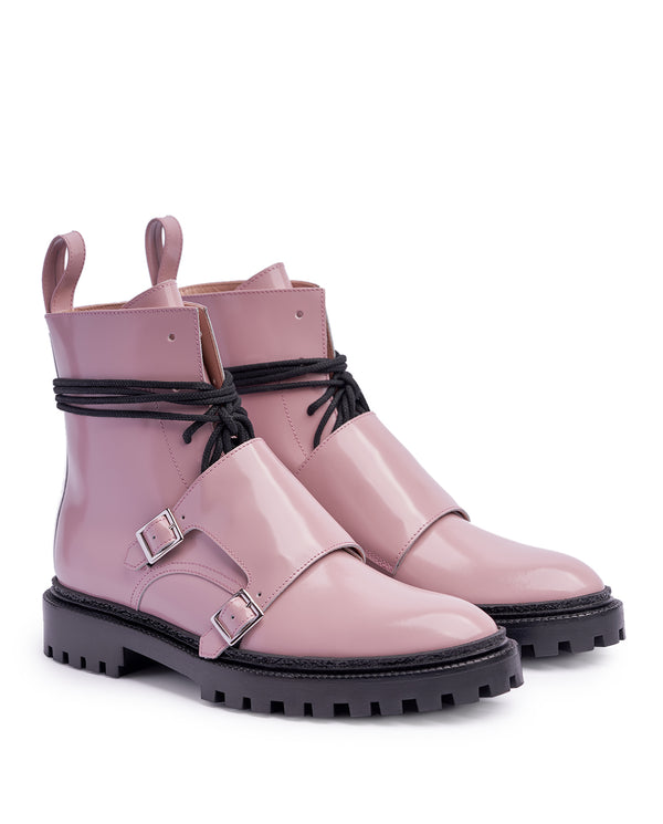Pale Pink Monk Boots