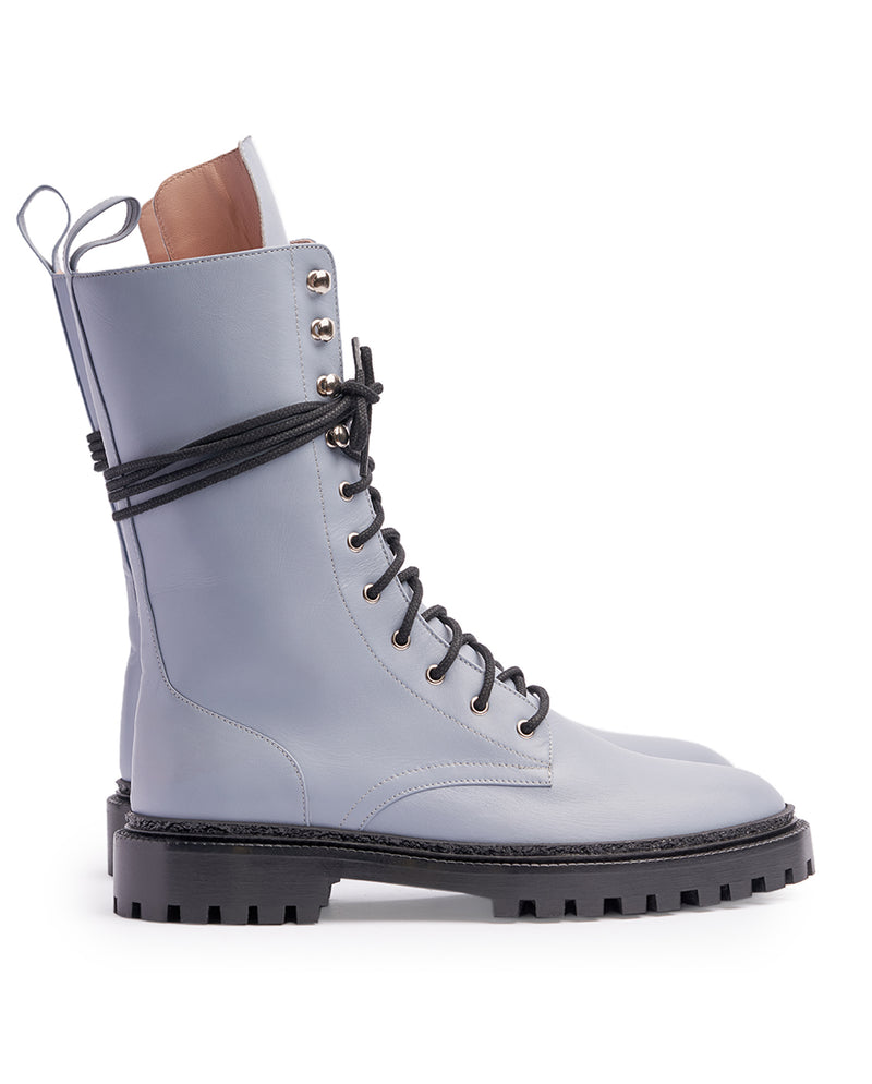 Dusty Blue Combat Boots