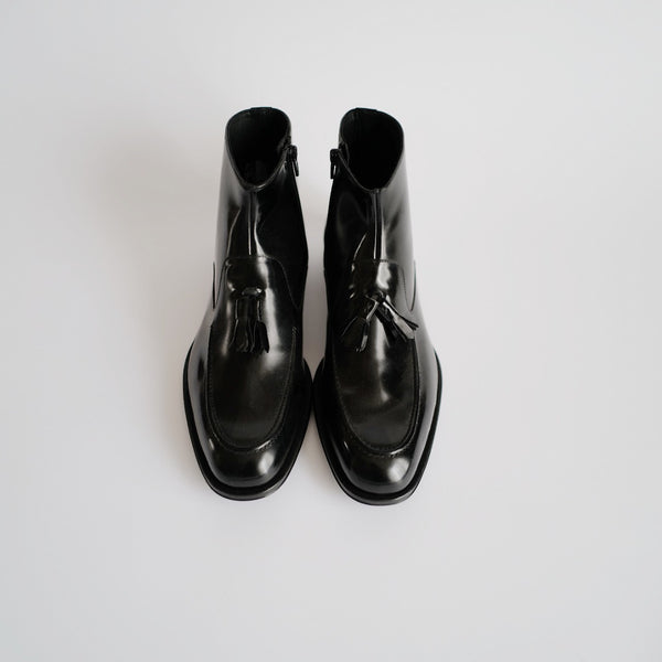 BLACK LOAFER BOOTS - I N C H 2