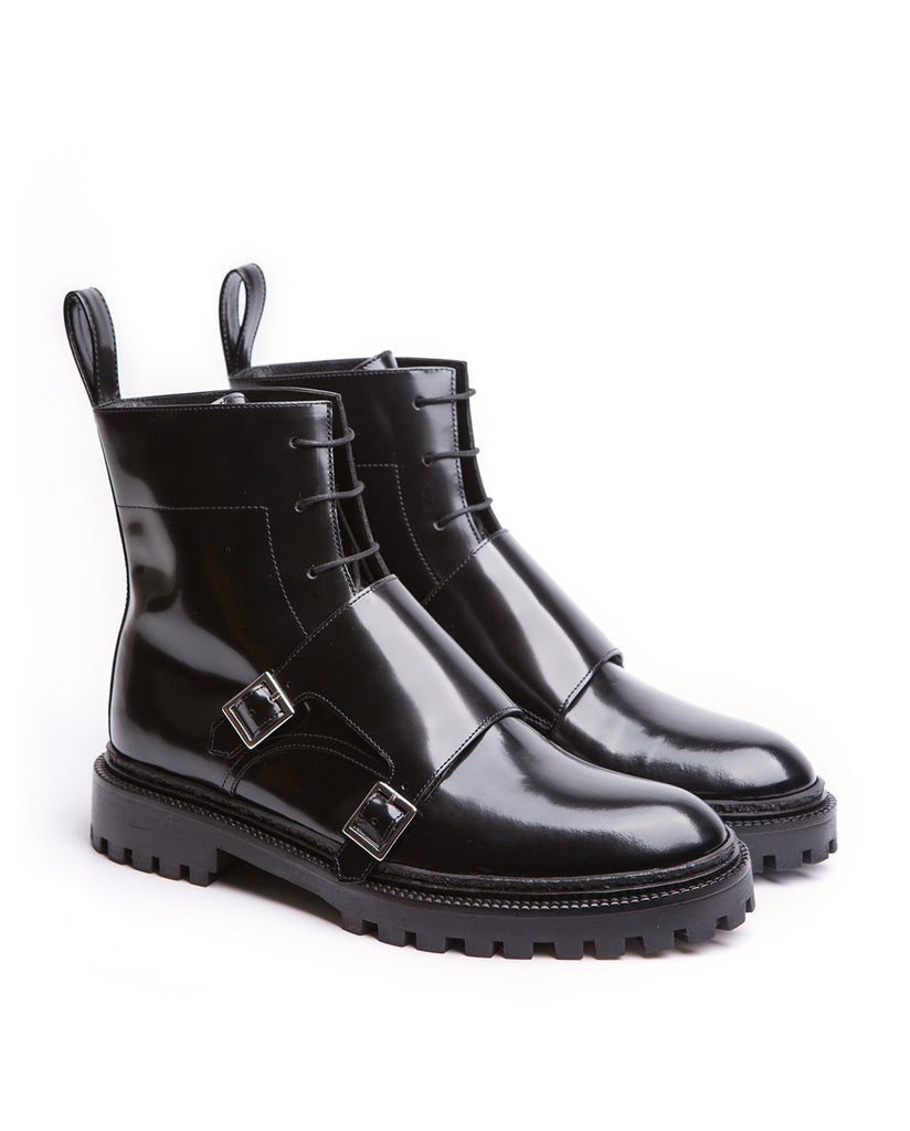 Lace-up Monk Boots with Buckles – I N C H 2
