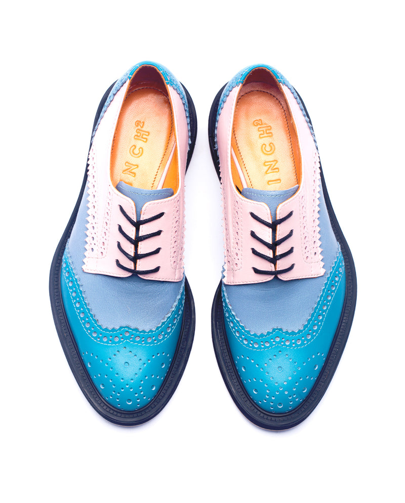 Aqua Blue Derby Brogues - I N C H 2