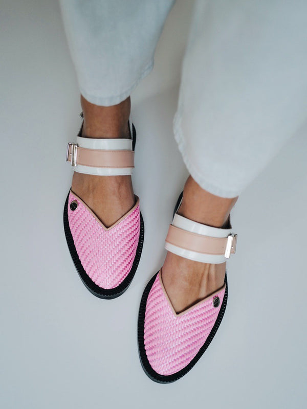 Sweet pink Closed Toe Sandals - I N C H 2