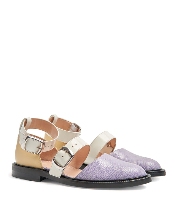LILAC CLOSED TOE SANDALS
