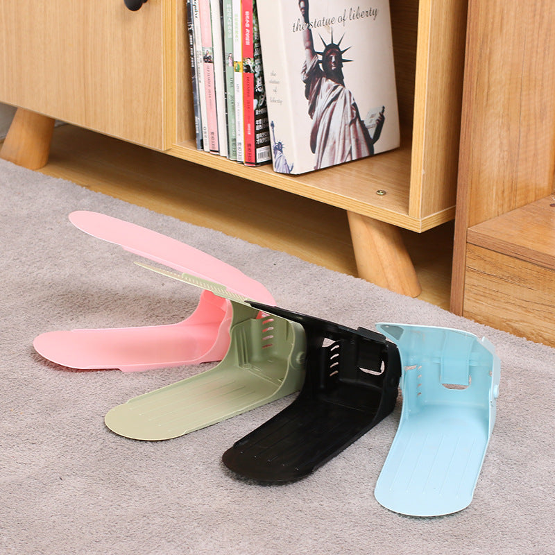 Modern double-layer dust-free storage shoe rack