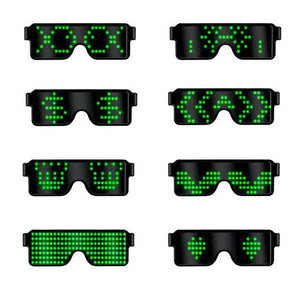 The latest LED glasses luminous version in 2019