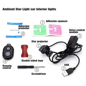 USB Starry Party Car Lights