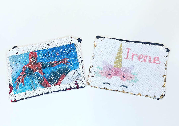 Sequin Pouch | Super Hero | Unicorn | Monogram | The Good Life Creations