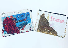 Load image into Gallery viewer, Sequin Pouch | Super Hero | Unicorn | Monogram | The Good Life Creations