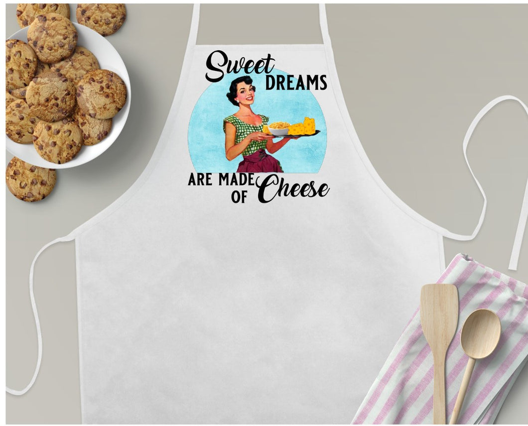 Copy of Apron | Retro Fun | Sweet Dreams are Made of Cheese | The Good Life Creations