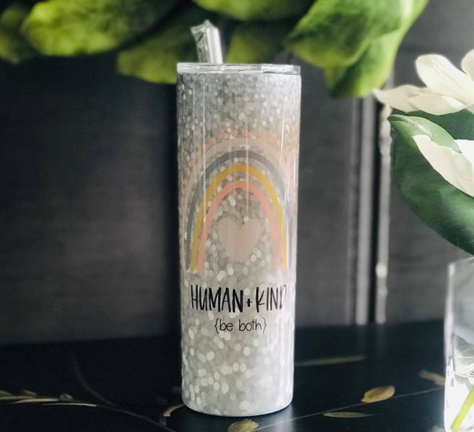 Human+Kind | Stainless Skinny Tumbler | The Good Life Creations