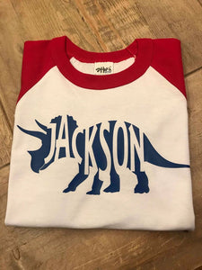 Dino | Raglan | Personalized | The Good Life Creations