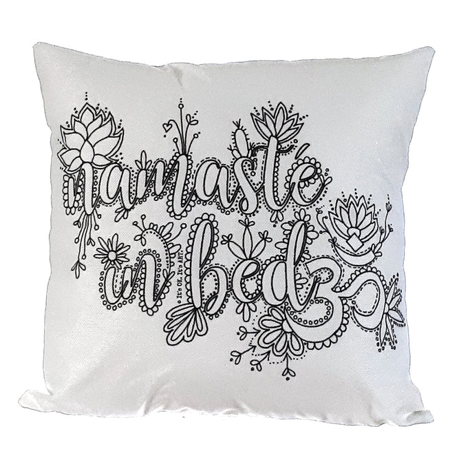 Pillow Art | Namaste in Bed | The Good Life Creations