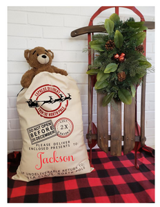 Santa Sack | Personalized | Christmas | The Good Life Creations