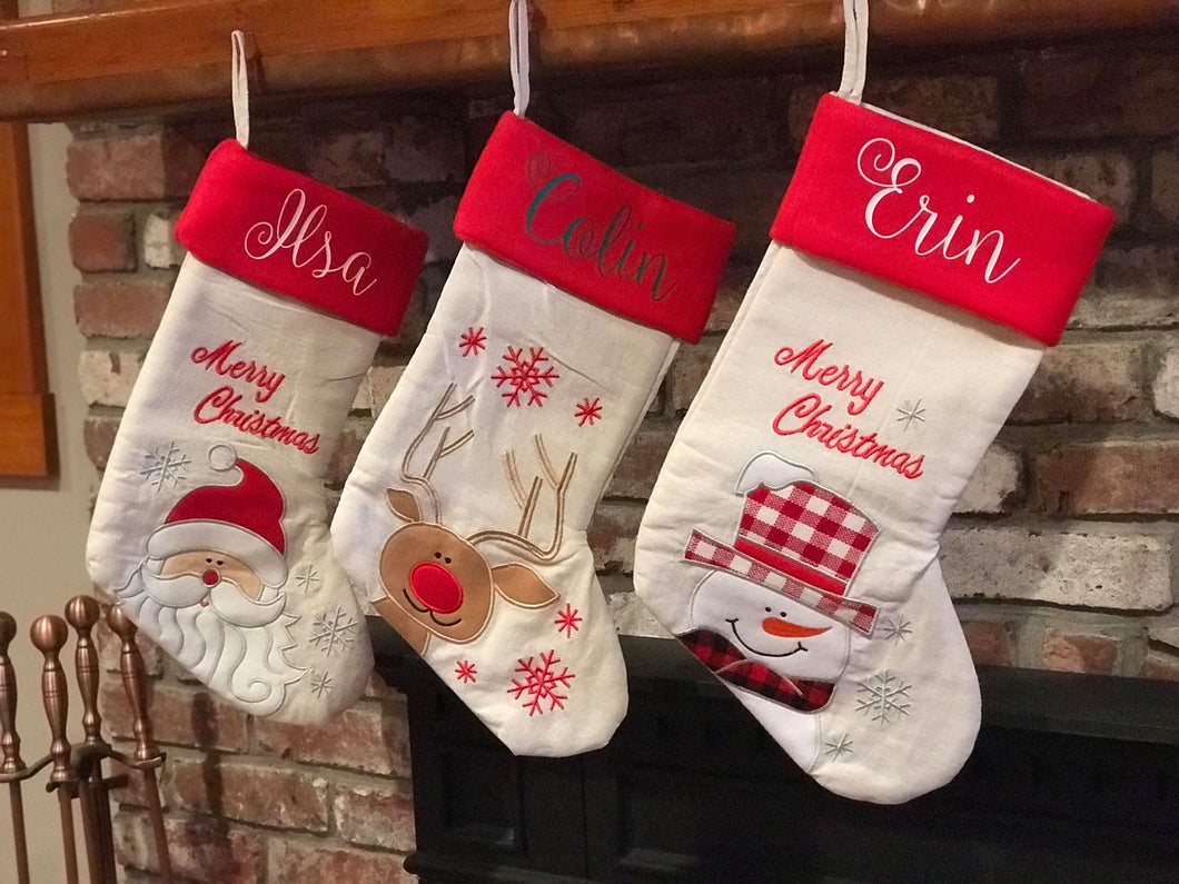 Stockings | Christmas | Monogrammed | The Good Life Creations