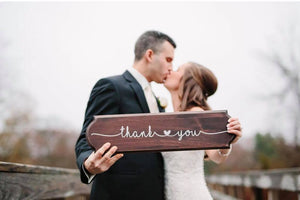Thank You | Wood Signs | Weddings | The Good Life Creations