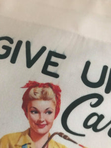 OOPS | Apron | Retro Fun | Give up Carbs? | The Good Life Creations