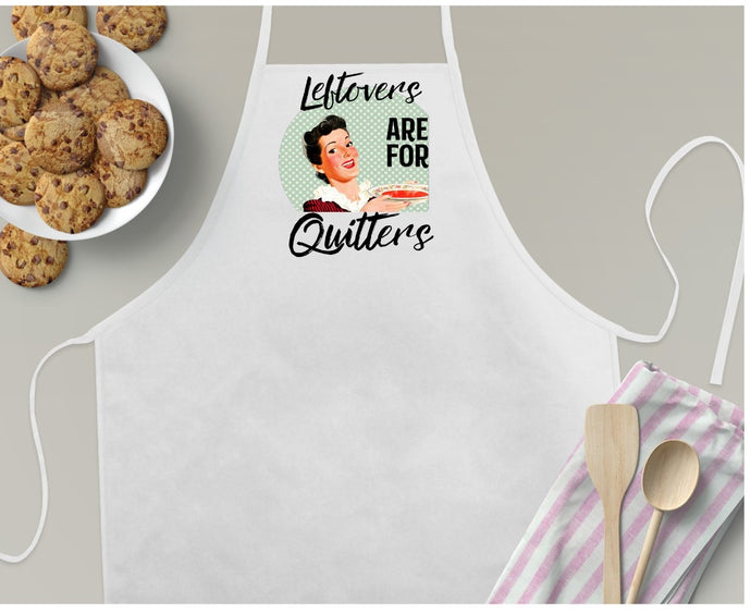Apron | Retro Fun | Leftovers are for Quitters | The Good Life Creations