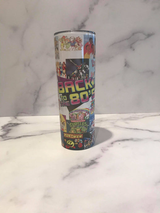 80s | Stainless Skinny Tumbler | The Good Life Creations