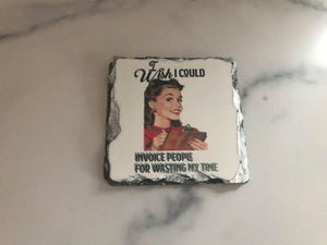 OOPS | Coaster | I Wish I was as Thin | Slate | Retro | The Good Life Creations