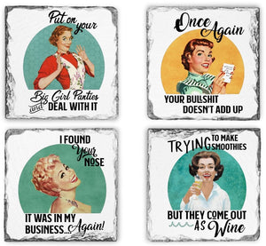 Coaster | I Found Your Nose | Slate | Retro | The Good Life Creations