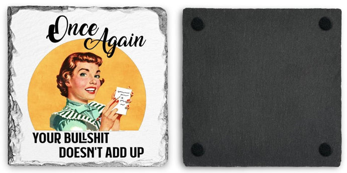 Coaster | Once Again | Slate | Retro | The Good Life Creations
