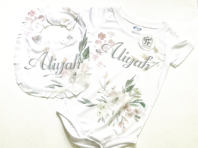 Floral | Bib | The Good Life Creations