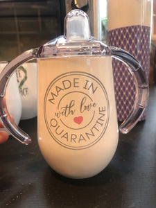 OOPS | Sippy Cup | Custom baby | Stainless Steel | The Good Life Creations