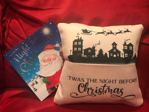 Pocket Pillow | Reading | Twas the Night Before Christmas | The Good Life Creations