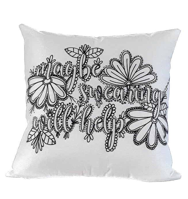DESTASH | Pillow Art | Maybe swearing will help | The Good Life Creations
