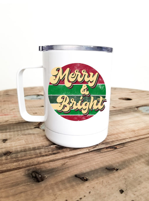 Merry & Bright | Stainless Mug | The Good Life Creations