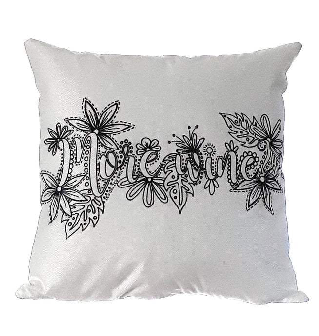 Pillow Art | More Wine | The Good Life Creations