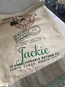 Oops Jackie | Santa Sack | Personalized | Christmas | The Good Life Creations