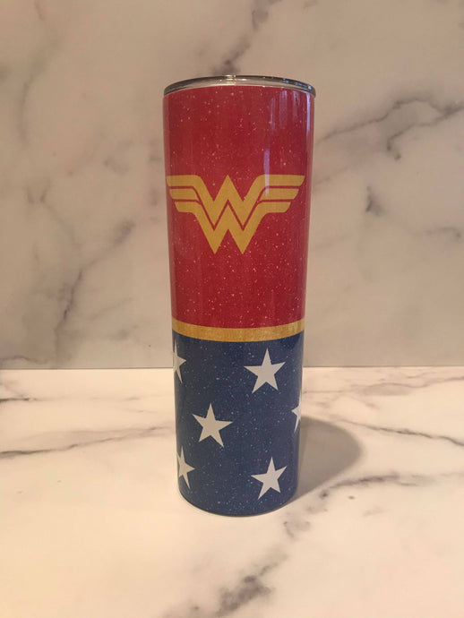Wonder Woman | Stainless Skinny Tumbler | The Good Life Creations