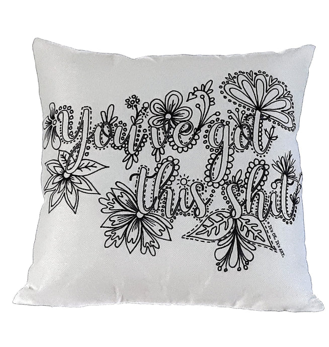 Pillow Art | You've Got This Shit | The Good Life Creations