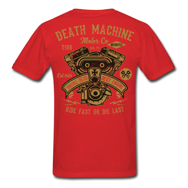 Death Machine Men's T-Shirt - Biker Apparel and Gears for harley & caferacer riders