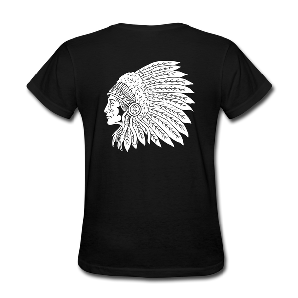 Red Indian Biker T-shirt Women - Biker Apparel and Gears for harley & caferacer riders