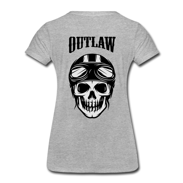 Biker Outlaw Skull T-shirt Women - Biker Apparel and Gears for harley & caferacer riders