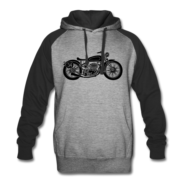 Vintage Biker Colorblock Hoodie - Biker Apparel for harley & caferacer riders