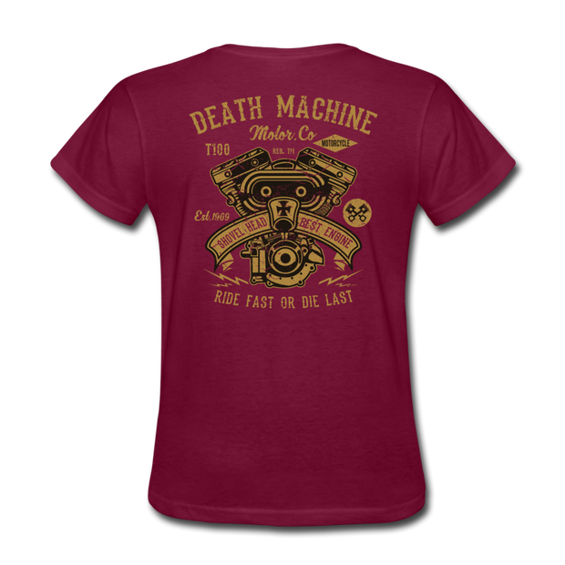 Death Machine Women's T-Shirt - Biker Apparel for harley & caferacer riders