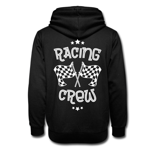 Biker Racing Crew Shawl Collar Hoodie - Biker Apparel for harley & caferacer riders