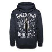 Biker Born To Race Shawl Collar Hoodie - Biker Apparel for harley & caferacer riders
